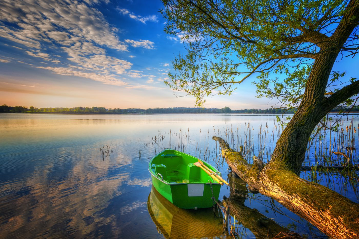 Mazury łódka na jeziorze Selmęt Wielki