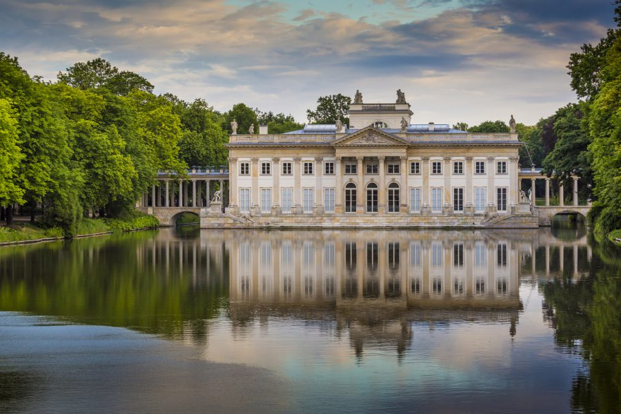 łazienki królewskie pałac na wodzie