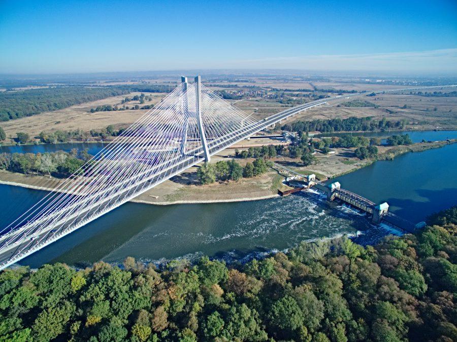 most rędziński wrocław AOW Artur Kowalczyk najwyższy most w Polsce