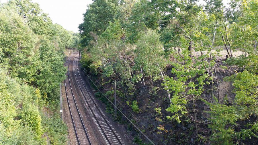 65. kilometr i nasyp, gdzie miałby zostać ukryty złoty pociąg