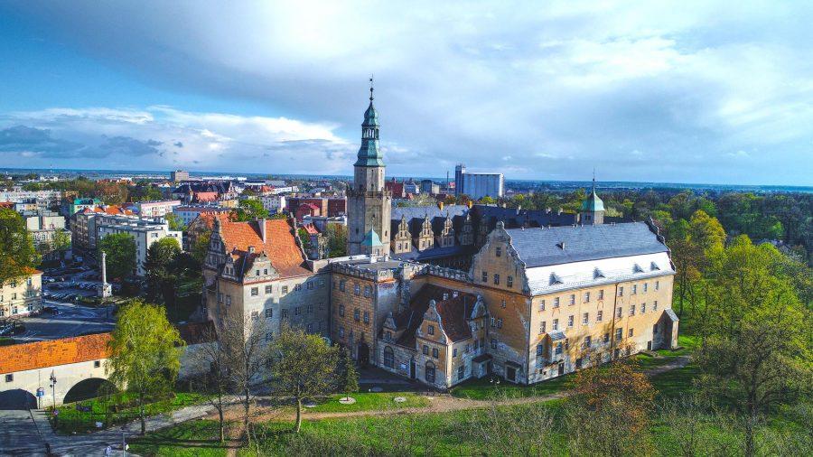 Zamek Książąt Oleśnickich z drona