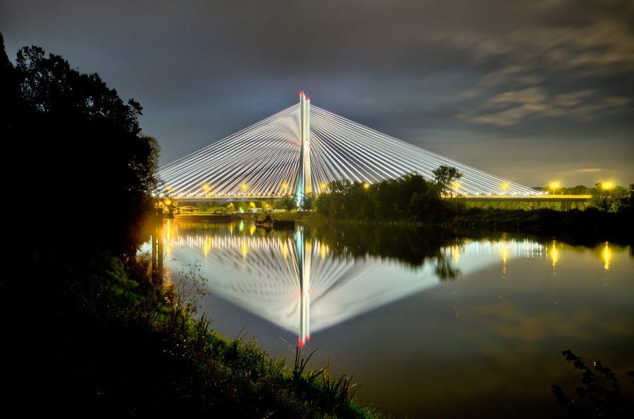 most rędziński najwyższy most w polsce wrocław AOW