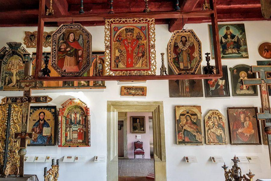 Sanok muzeum zamek królewski ikony