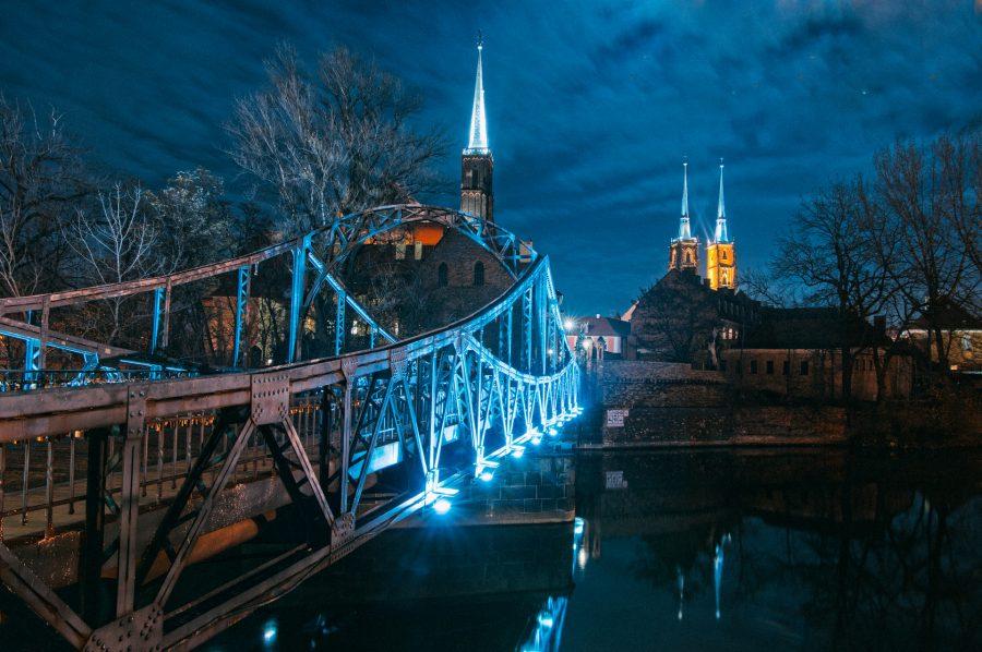 Most Tumski, widok na katedrę