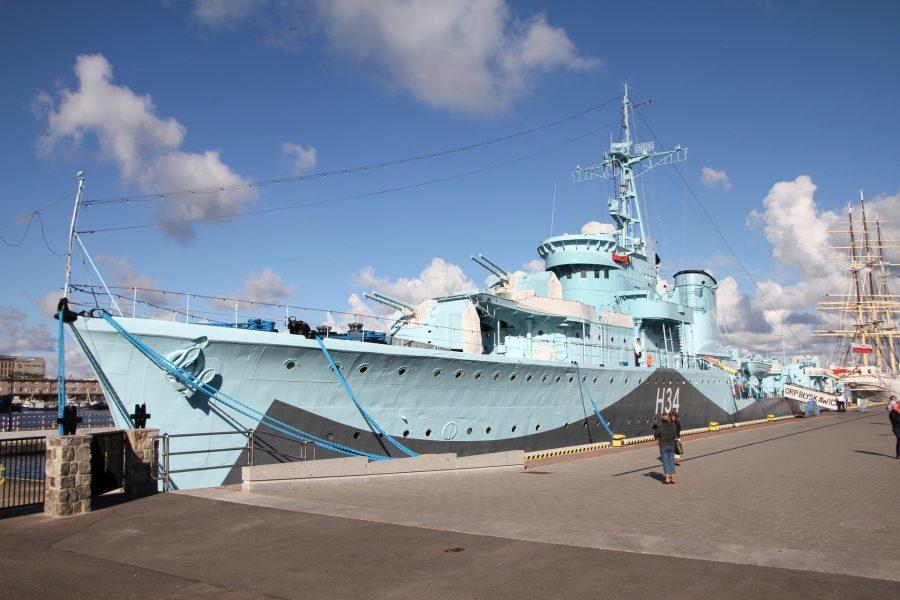 okręt niszczyciel orp błyskawica pływające muzeum