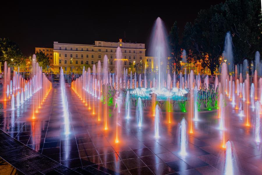 Fontanna na placu Litewskim w Lublinie