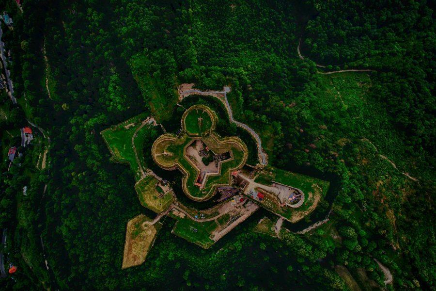 Twierdza Srebrna Góra z drona
