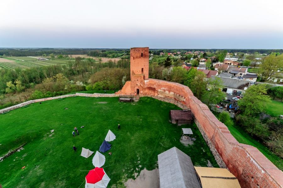 Zamek w Czersku widziany z góry