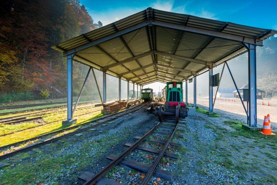 stacja kolejowa wąskotorowej bieszczadzkiej kolejki leśnej cisna-majdan