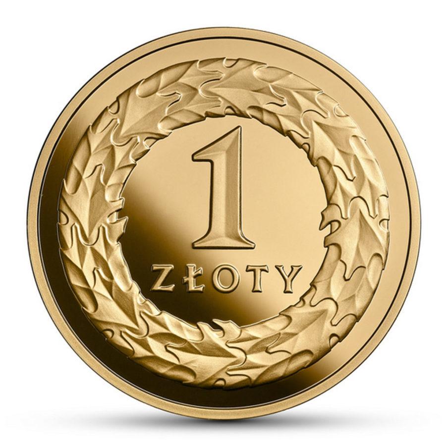 Złota moneta o nominale 1 zł na stulecie niepodległości