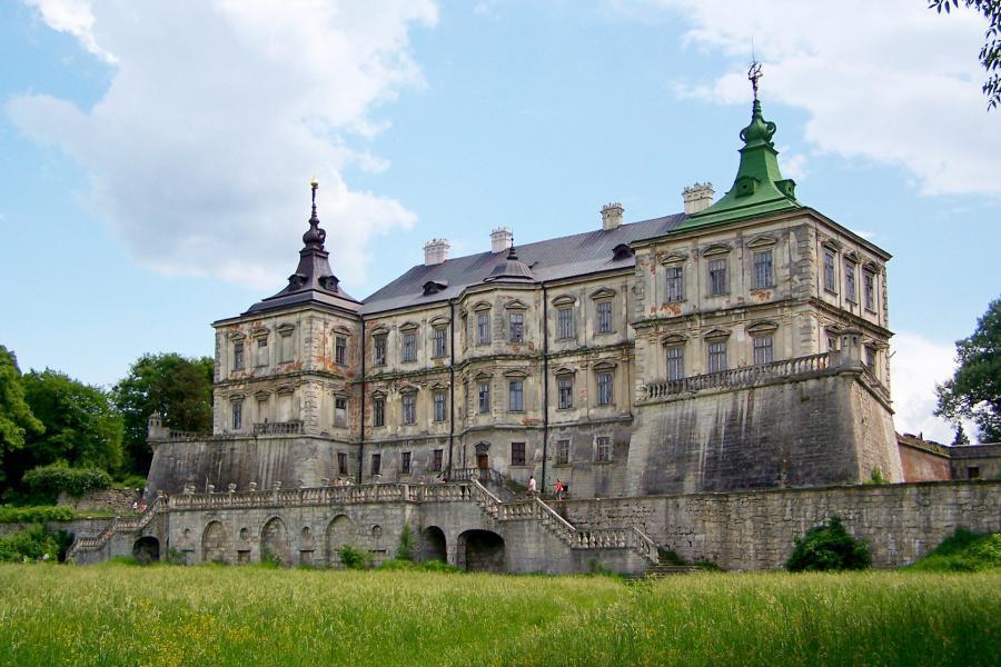 Zamek w Podhorcach na Ukrainie