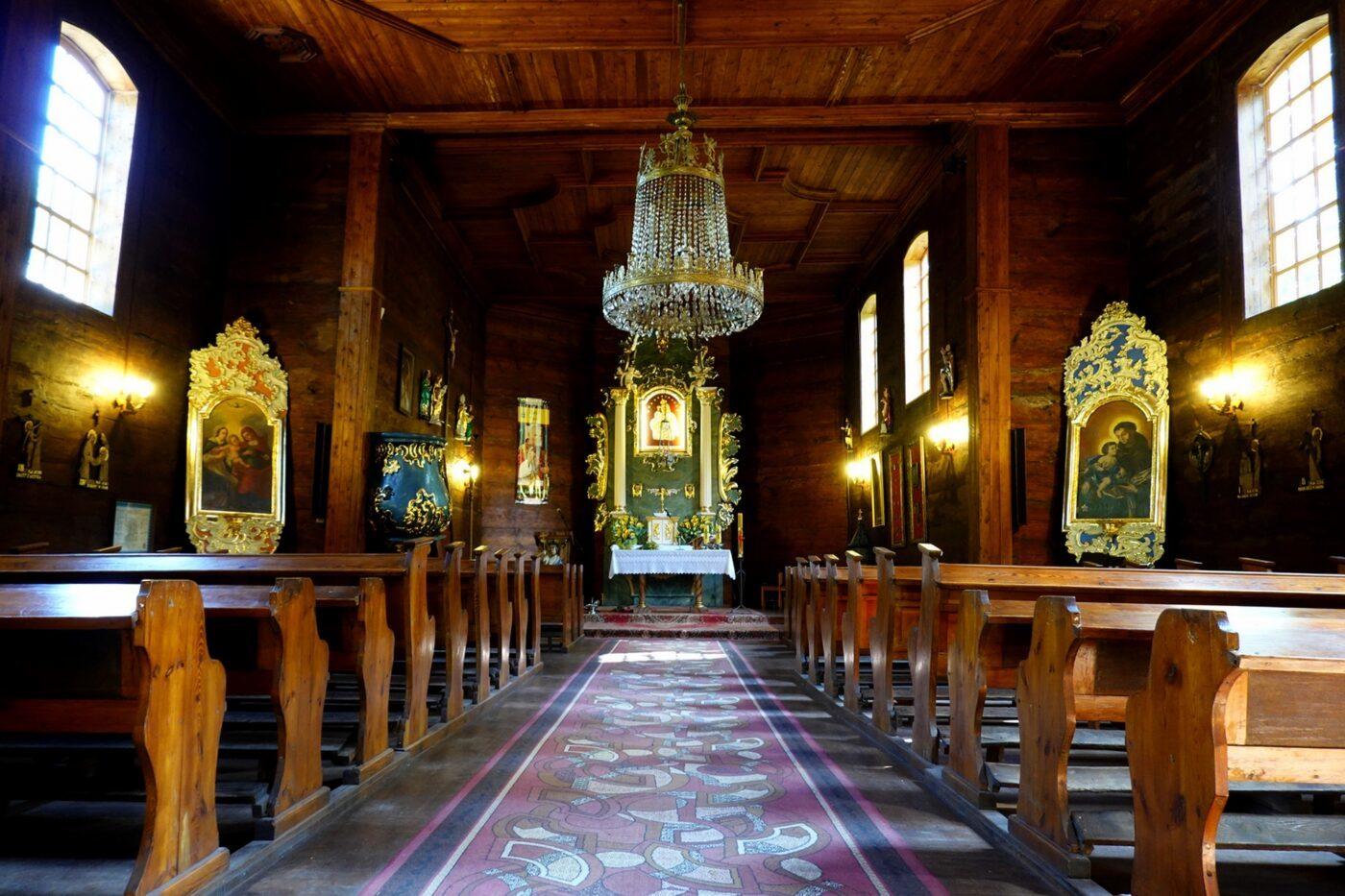 Szlak Piastowski atrakcje, kościół pw. św. Jana Chrzciciela w Gieczu